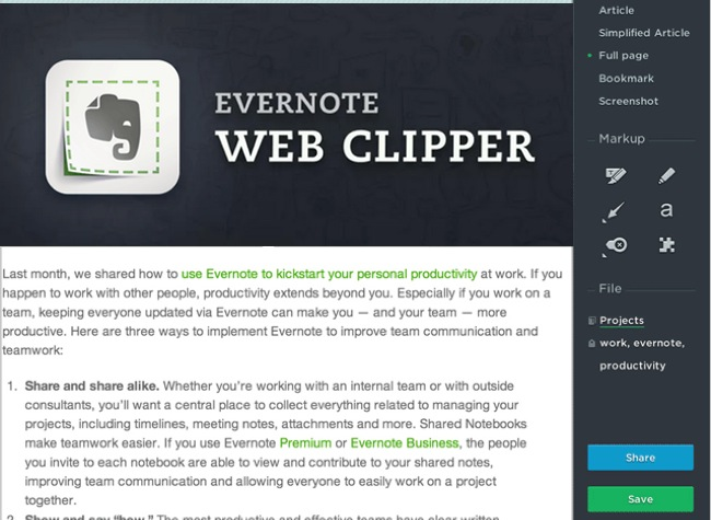 Evernote Web Clipper 6 For Googles Chrome Browser Launches ...