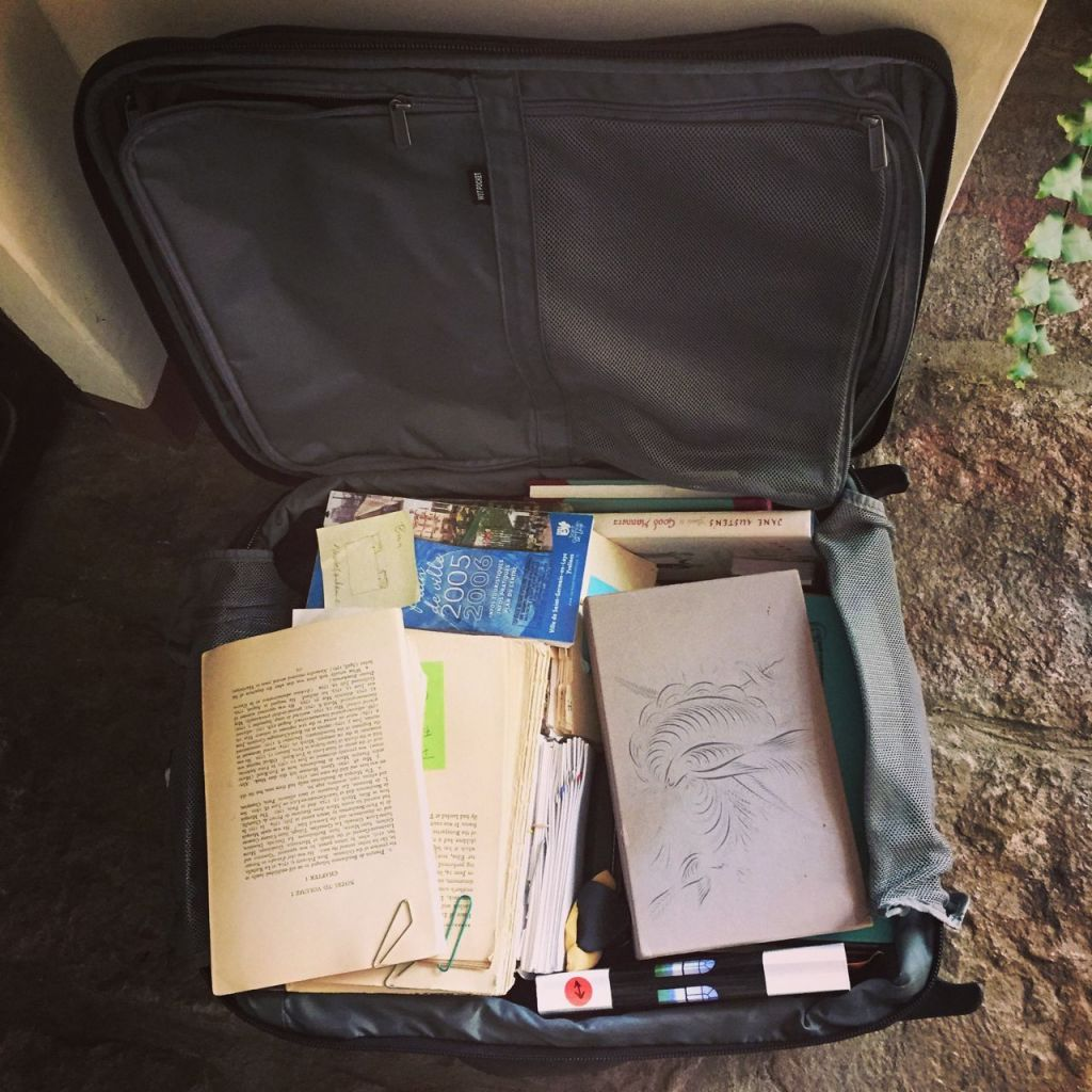 Suitcase of books