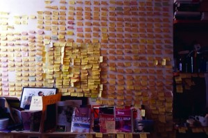 Will Self's writing room
