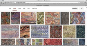 marbled pages