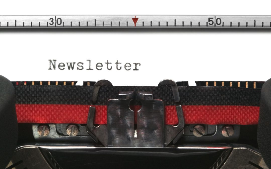 A newsletter, finally!
